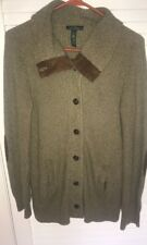 Ralph Lauren Elbow Patch Cardigan Sweater Fox Hunt Crest Buttons Size S Small