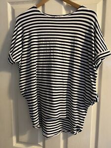 Ladies Lagenlook T-shirt Dipped Hem - One Size 10/12/14/16