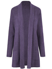Julipa ladies cardigan plus size 16/18 20/22 24/26 28/30 lavender longline knit