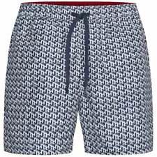 Tommy Hilfiger Medium Drawstring Print Swim Shorts, TH Cube PRT - White