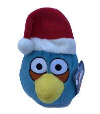 "NWT Angry Birds 8"" Plush Santa Hat Blue Bird"