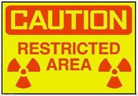 Caution Restricted Area Sticker OSHA Work Safety Business Sign Decal Label D251