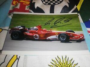 Michael Schumacher hand signed Ferrari photo