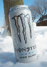 MONSTER Energy ULTRA WHITE 500ml LATTINA DA COLLEZIONE SENZA AMMACCATURE! estremamente raro! drink