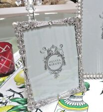 "Olivia Riegel Waldorf Crystal Deco 5"" x 7""  Photo Frame  NEW! In Box!"