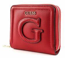 GUESS Chrissy SLG Small Zip Around Geldbörse Lipstick Rot Neu