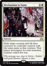 DECLARATION IN STONE Shadows over Innistrad MTG White Sorcery Rare