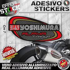 Adesivo/Sticker YOSHIMURA ALPHA Titanium Carbon Cromo SUZUKI HONDA DUCATI