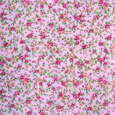 ITSY BITSY TINY FLORAL - PINK - POLY COTTON FABRIC sold per metre pink FLOWERS