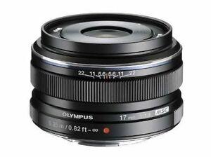 Olympus M.Zuiko Digital 17 mm / 1,8   Objektiv B-Ware vom Fachhändler schwarz