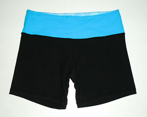 """LULULEMON Reversible GROOVE Shorts BLACK/BLUE 5"""" Workout Run Fitted Sz 4"""