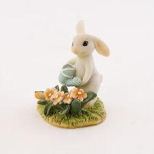 Fairy Garden Mini - Bunny Gardener Watering the Flower Bed
