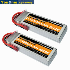 2pcs Youme 3S 6500mAh 11.1V LiPo Battery 60C Deans Plug for RC Helicopter Car