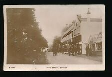 Hants Hampshire BORDON High St Used 1916 Crease RP PPC