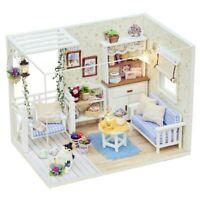 Doll House Furniture Diy Miniature Dust Cover 3D Wooden Miniature Dollhouse T V5