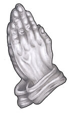 Praying Hands Temporary Tattoo - pack of 2 medium sized tattoos  Made in the USA