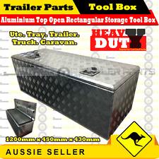 Aluminium Top Open Rectangular Storage Tool Box - Trailer Truck Tray Ute Caravan