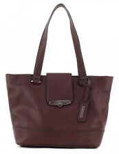 ESPRIT Lana Small Shopper Tasche Schultertasche Shopper Bordeaux Red Rot Damen