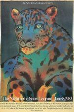 Original Vintage Poster Milton Glaser The Night of the Snow Leopard