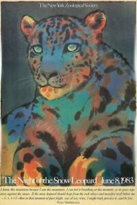 Original Vintage Poster Milton Glaser The Night of the Snow Leopard