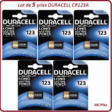 5 piles CR123A 3V spécial appareil photo Duracell, livraison rapide et gratuite