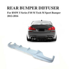 V style Unpainted Rear Diffuser Auto Lip Fit for BMW F10 M tech bumper 550i 530i