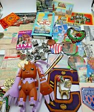 New listing Junk Drawer Lot Old New Collectibles Anime Post Cards Pins Concert Tickets 30+pc
