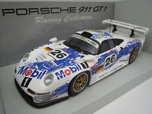 Porsche 911 GT1 Bj 1998 Modellauto aus Sammlung Maßstab 1:18 Maisto