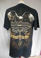 Harley-Davidson Las Vegas Cafe Mens T-Shirt Large Black Eagle Print Crew Neck HD