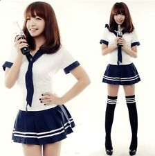 Cute Student School Girl Navy Cosplay Uniform Womens Sexy Babydoll, Size S/M
