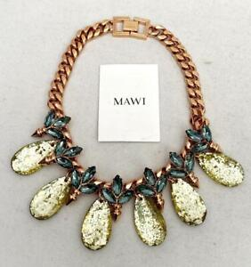 MAWI Crystal  Chain Necklace -BOXED - Perfect Gift!