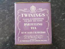 Vintage Twinings Darjeeling Tea Empty Canister 16 ozs, 454 grams