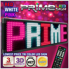 "26mm TriColor 69""x19"" Programmable LED Sign Scrolling Message Display Out/Indoor"