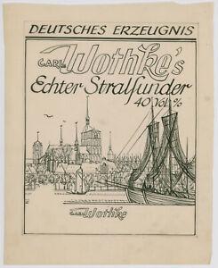 Kliefert, Erich Entwurf für Stralsunder Weinkellerei und Likörfabrik Carl Wothke