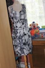 SARAH PACINI  Superbe  robe drapée bleu  et gris  T3  NEUVE   ORIGINALE+++