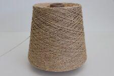R45 (37,98€/kg) 500g SCHURWOLLE / SEIDE BEIGE (4,4) Wolle Zwirn Strick