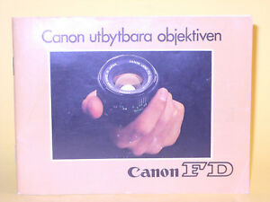 Original(!) Canon utbytbara objektiven - in Swedish!