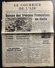 Original France Ww 2 Air Mail Information Newspapers Leaflet Dropped 1944
