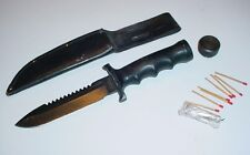 Vintage Japan Patent Applied Explorer Wilderness Survival Knife & Accessories