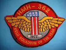 PATCH USMC HEAVY HELICOPTER SQ  HMH-362 HELO SQUADRON OF THE YEAR 1977