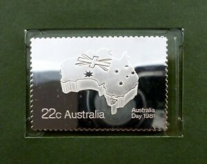 Australia 22c stamp 1981 MNH with Silver Stamp + FDC - Australia Day 1981 (T70)