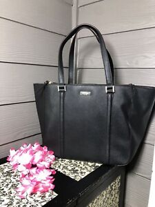 Kate Spade New York Black Leather, Extra Large Tote