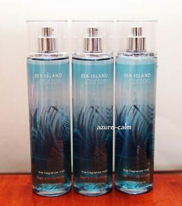 Bath Body Works SEA ISLAND COTTON 8 ozs Body Fragrance Mist x 3
