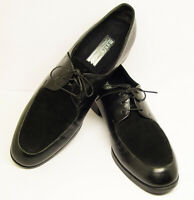 "MUNRO AMERICAN SZ 8 N BLACK LEATHER OXFORD LACE UP 1.5"" HEELS SHOES GOOD COND."
