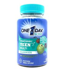 ONE A DAY VitaCraves For Him Teen Multi Vitamin 60 Gummies Exp 10/2020 SEALED