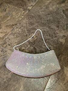 White/ Green Iridescent clutch purse