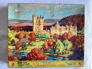 Famous Castles Series Vintage Balmoral Castle 400 Piece Jigsaw Puzzle Used