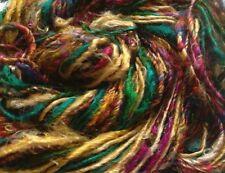 Sari Silk Luxury Yarn, Green Multicolour, 100g Textile Craft/Weave/Crochet/Knit