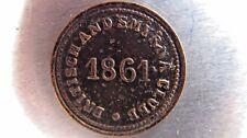 """Turkey/Ottoman Empire """"Britisch And Smyrna Club"""" 1861 token."""