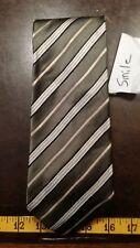 Geoffrey Beene Green Gray Stripe Silk Mens Designer Tie Necktie Free Shipping